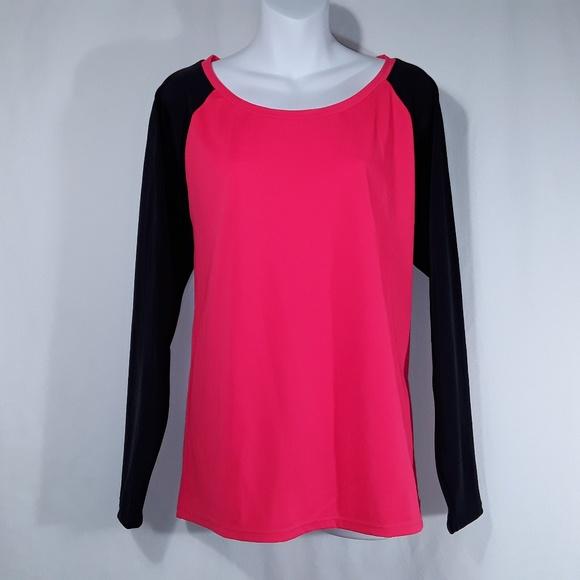torrid Tops - NWT Torrid Neon Red and Black Raglan shirt